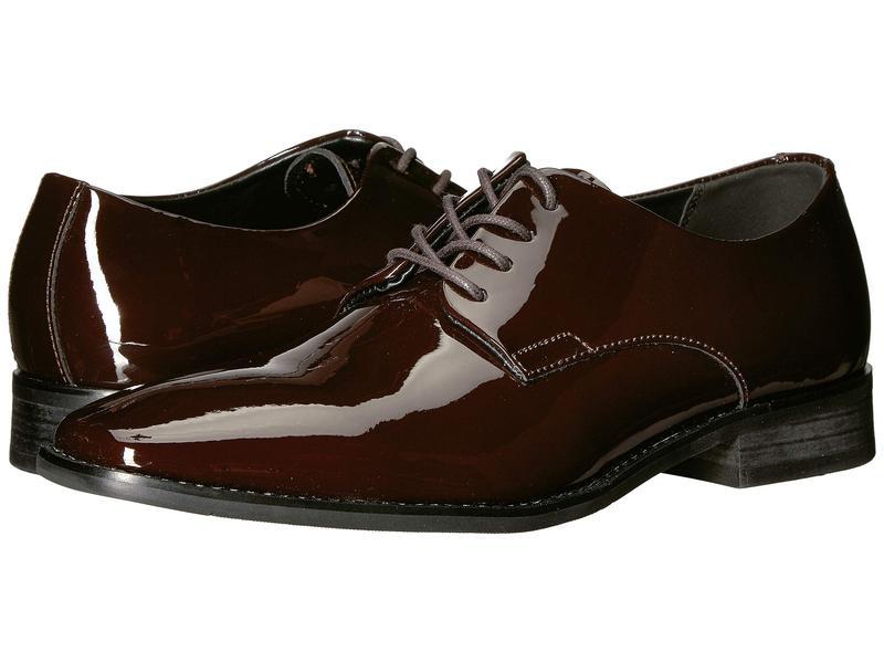 カルバンクライン メンズ オックスフォード シューズ Ramses Mahogany Patent Leather