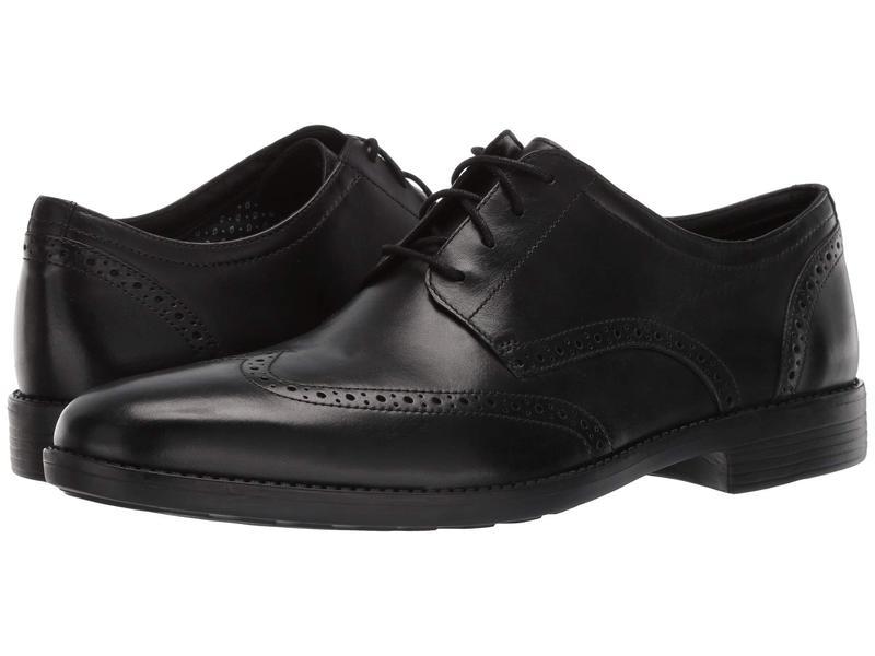 ボストニアン メンズ オックスフォード シューズ Birkett Wing Black Leather