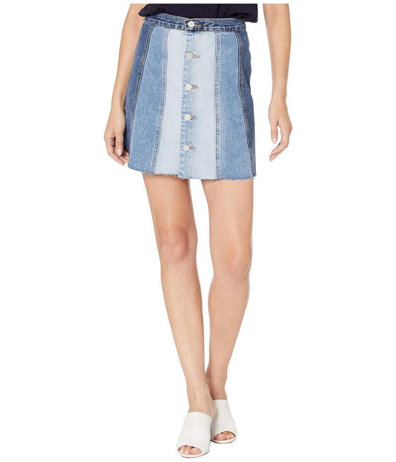ブランクニューヨーク レディース スカート ボトムス Denim Mini Skirt with Color Blocking Detail in All Or Nothing All Or Nothing