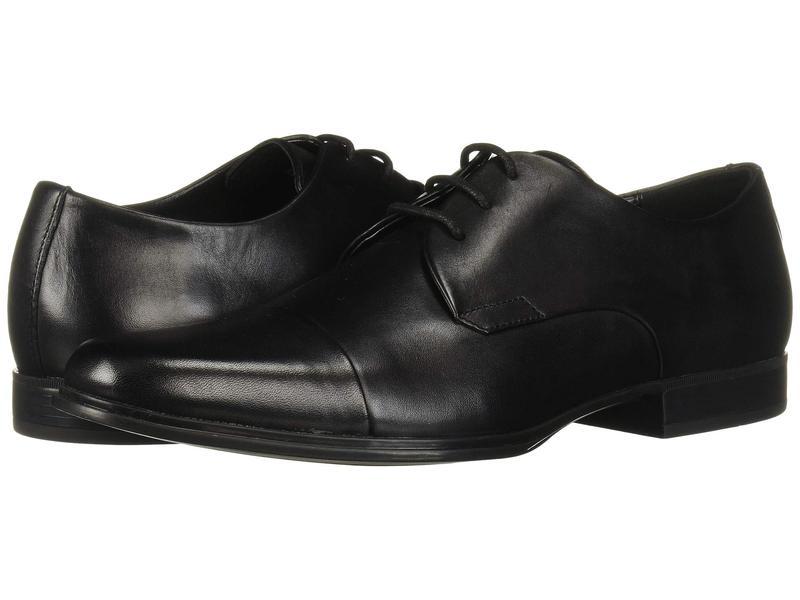 カルバンクライン メンズ オックスフォード シューズ Dominick Black Crust LeathertChosQxrdB