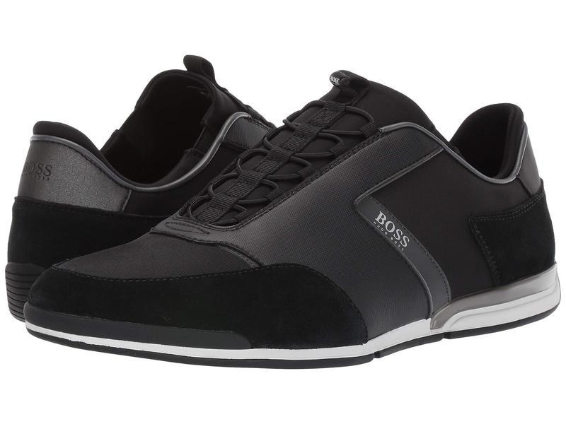 ヒューゴボス メンズ スニーカー シューズ Saturn Low Profile Sneakers Black