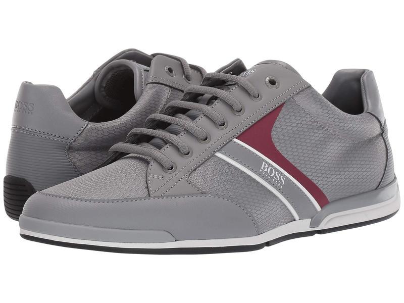 ヒューゴボス メンズ スニーカー シューズ Saturn Low Profile Sneakers Medium Grey