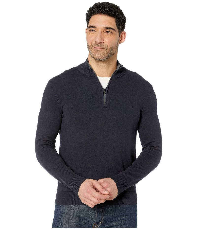 カルバンクライン メンズ ニット・セーター アウター Cotton Modal Long Sleeve 1/4 Zip Night Sky