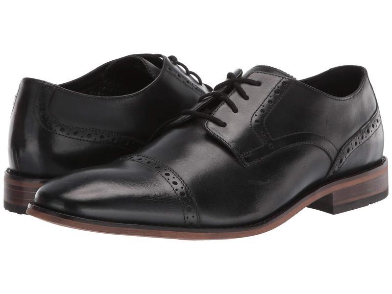 ボストニアン メンズ オックスフォード シューズ Lamont Cap Black Leather