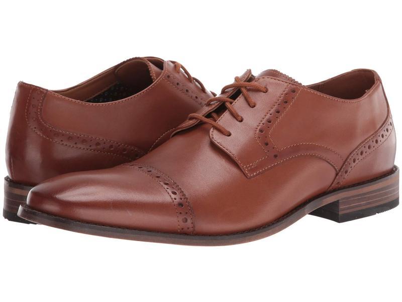 ボストニアン メンズ オックスフォード シューズ Lamont Cap Tan Leather