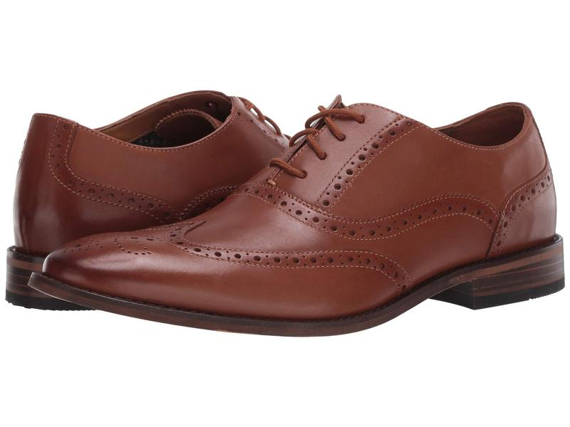 ボストニアン メンズ オックスフォード シューズ Lamont Wing Dark Tan Leather