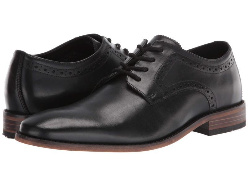 ボストニアン メンズ オックスフォード シューズ Lamont Plain Black Leather