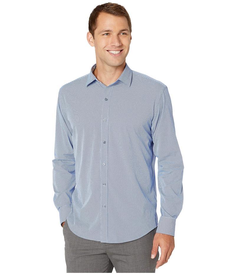ブガッチ メンズ シャツ トップス Performance Manchester Shaped Fit Sport Shirt Classic Blue