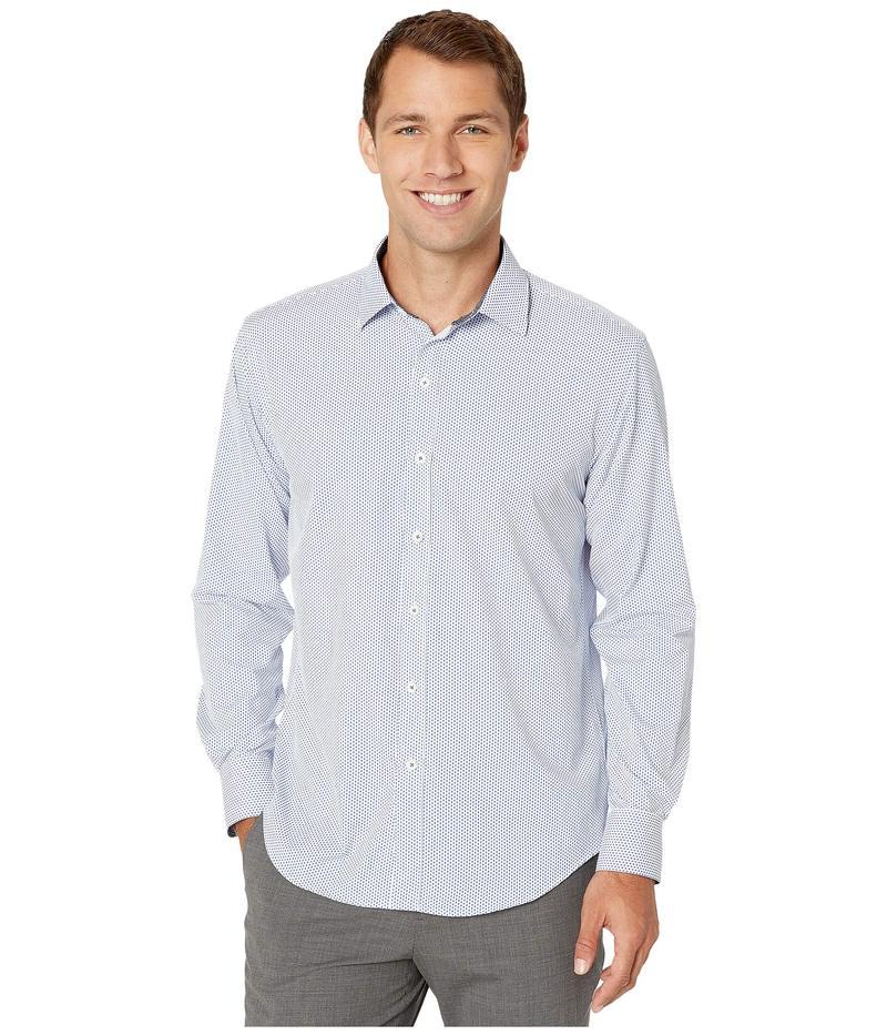 ブガッチ メンズ シャツ トップス Performance Oskar Shaped Fit Woven Shirt Navy