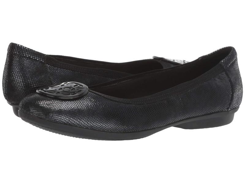 クラークス レディース サンダル シューズ Gracelin Lola Black Interest Leather