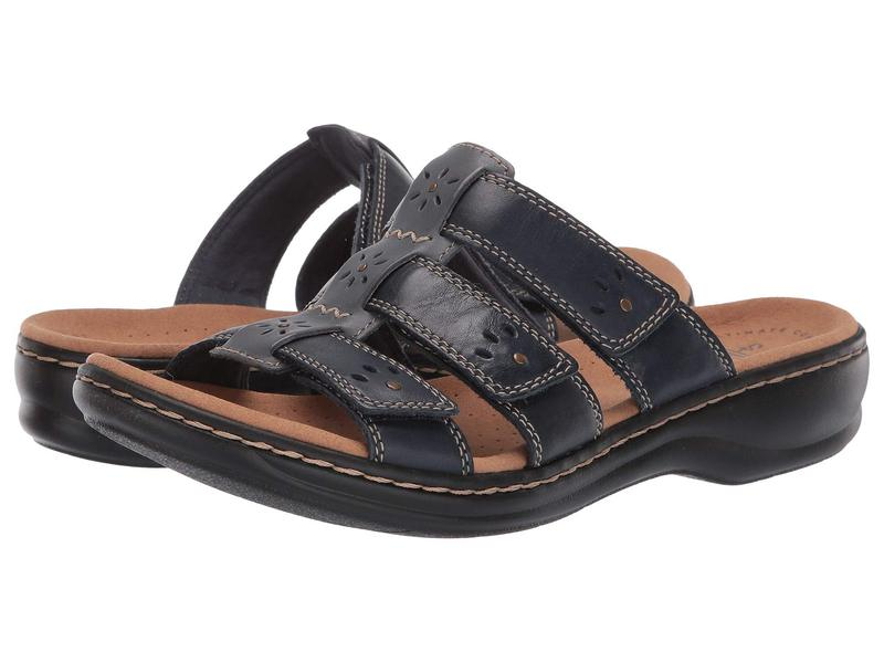 クラークス レディース サンダル シューズ Leisa Spring Navy Multi Leather