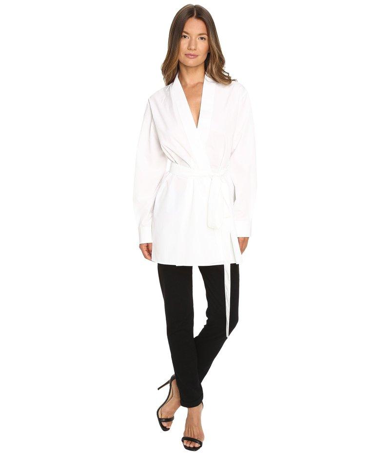 ディースクエアード レディース シャツ トップス Chic Poplin Karate Shirt White