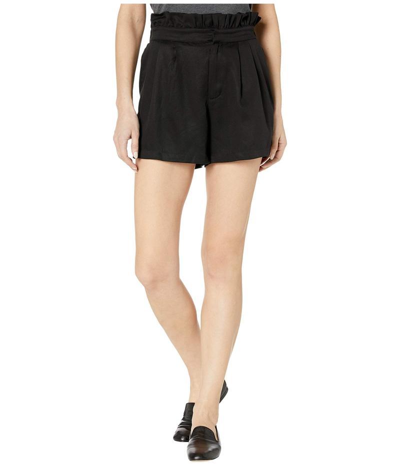 カップケーキアンドカシミア レディース ハーフパンツ・ショーツ ボトムス Leah High-Waisted Lyocell Paper Bag Shorts Black