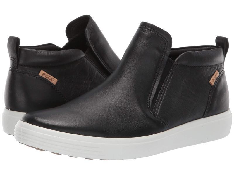 エコー レディース スニーカー シューズ Soft 7 Slip-On Boot Black Cow Leather