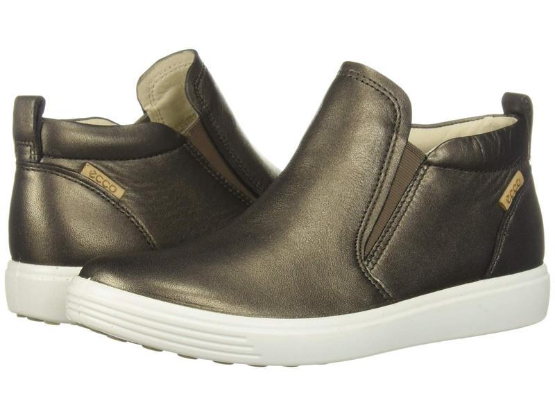 エコー レディース スニーカー シューズ Soft 7 Slip-On Boot Black Stone Metallic Cow Leather