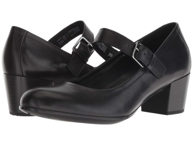 エコー レディース ヒール シューズ Shape 35 Mary Jane Black Cow Leather