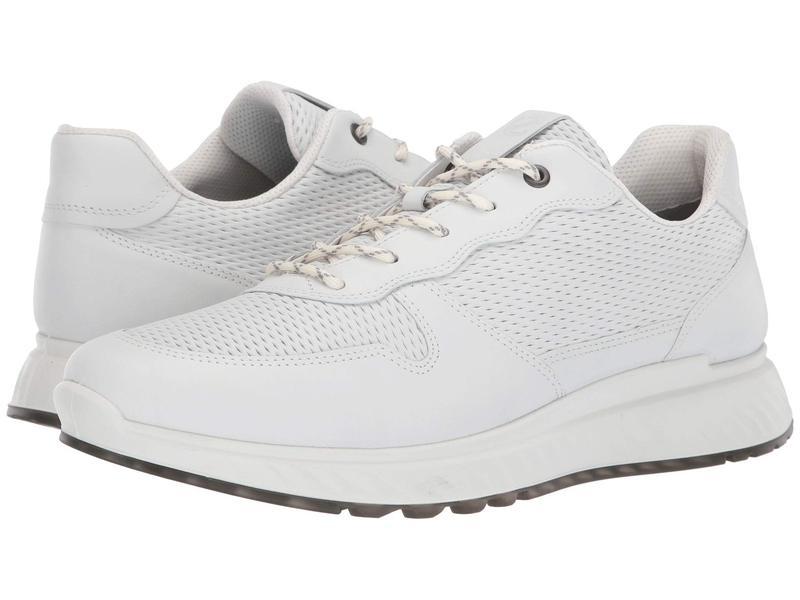 エコー メンズ スニーカー シューズ ST1 Perforated Sneaker White