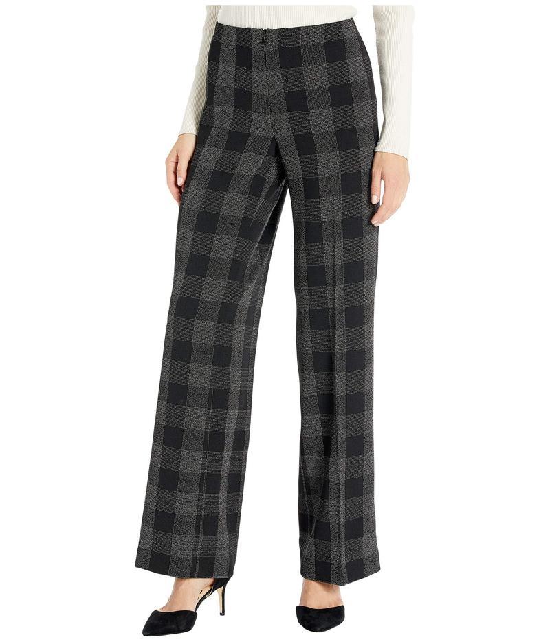 エリオットローレン レディース カジュアルパンツ ボトムス Square One Invsible Zipper Wide Leg Pants Black/Grey