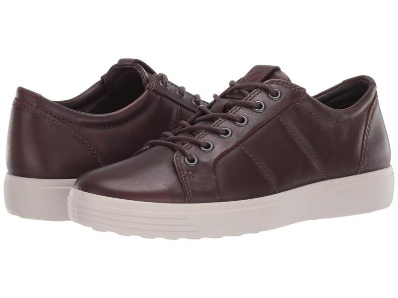 エコー メンズ スニーカー シューズ Soft 7 Premium Sneaker Cognac