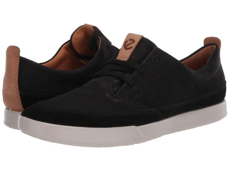 エコー メンズ スニーカー シューズ Cathum Leisure Sneaker Black/Black/Lion