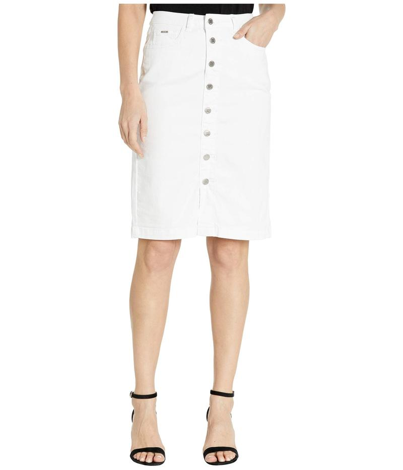FDJフレンチドレッシングジーンズ レディース スカート ボトムス Sunset Hues Denim Skirt Button Front Detail in White White