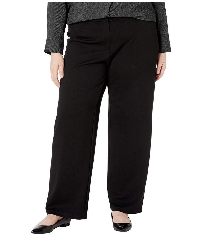 エイリーンフィッシャー レディース カジュアルパンツ ボトムス Plus Size Flex Tencel Ponte Straight Pants Black
