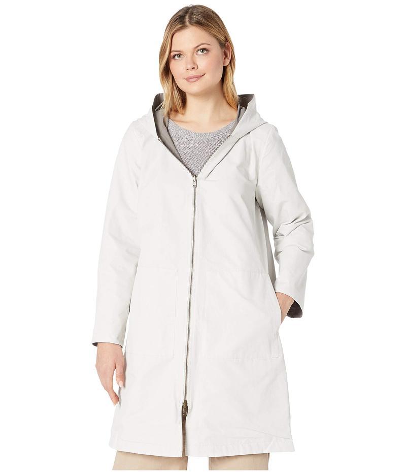 エイリーンフィッシャー レディース コート アウター Organic Cotton Nylon Outerwear Hooded Jacket Bone