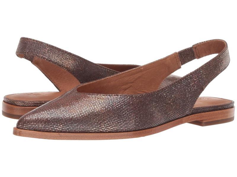 フライ レディース サンダル シューズ Kenzie Slingback Multi Metallic Foil Embossed Leather