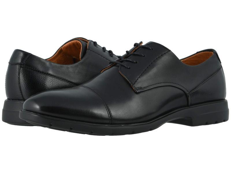フローシャイム メンズ オックスフォード シューズ Westside Cap Toe Oxford Black Smooth