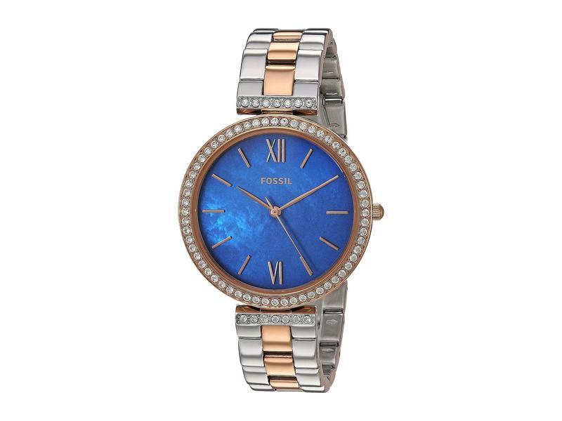 フォッシル レディース 腕時計 アクセサリー Madeline Three-Hand Watch ES4640 Two-Tone Stainless Steel