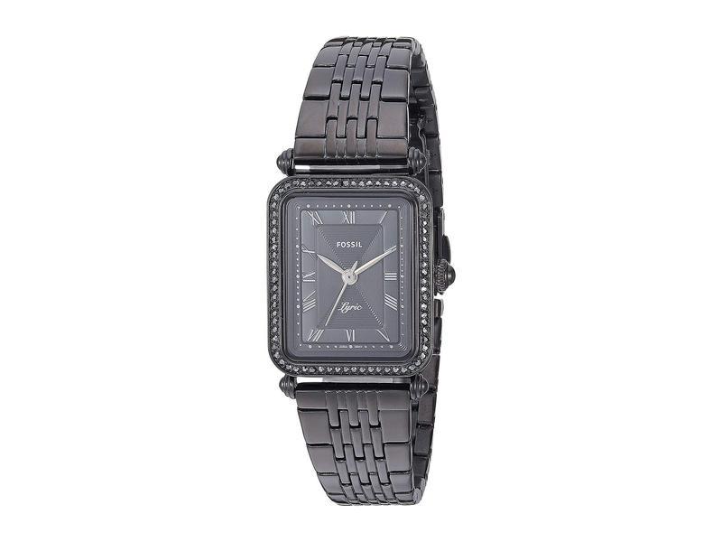 フォッシル レディース 腕時計 アクセサリー Lyric Three-Hand Watch ES4722 Black Stainless Steel
