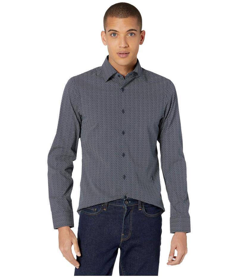 ジースター メンズ シャツ トップス Core Super Slim Shirt Long Sleeve Sartho Blue/Milk
