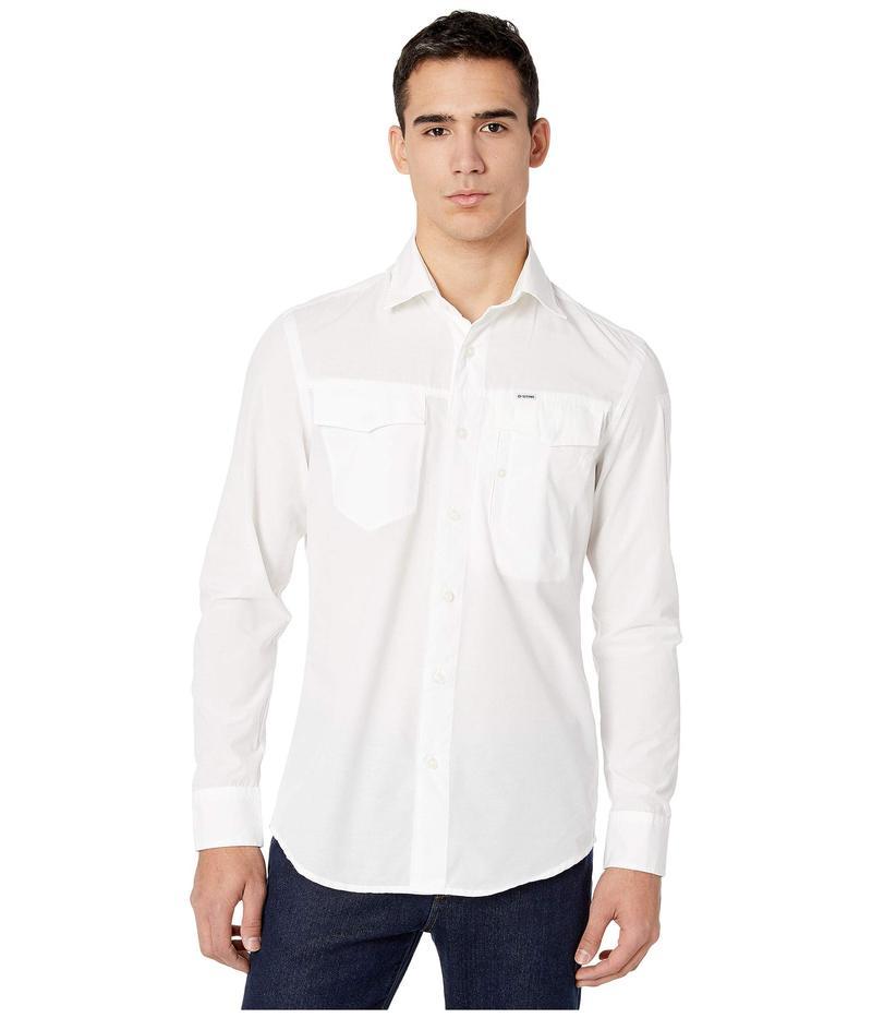 ジースター メンズ シャツ トップス Citishield Slim Shirt Long Sleeve White