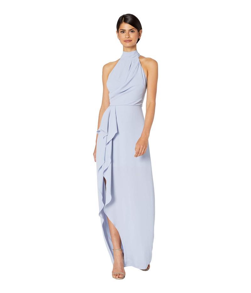 ホルストンヘリテイジ レディース ワンピース トップス Sleeveless Mock Neck Gown with Drape Front Detail Violet 1