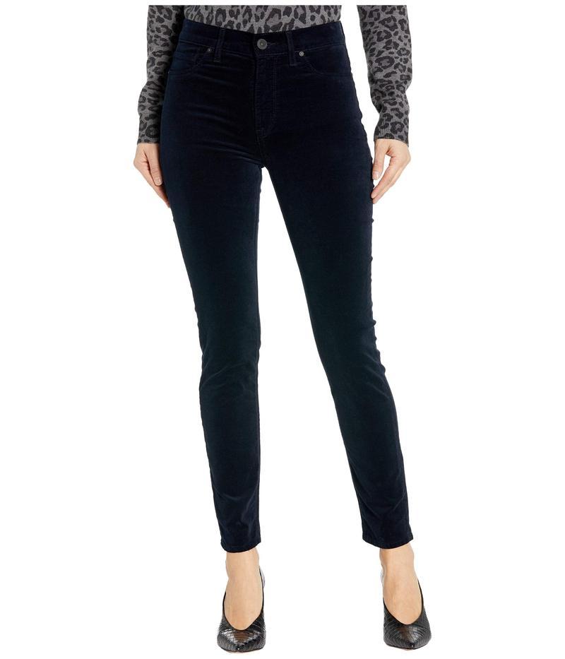 ハドソンジーンズ レディース デニムパンツ ボトムス Barbara Velvet High-Waist Super Skinny Ankle in Midnight Navy Midnight Navy
