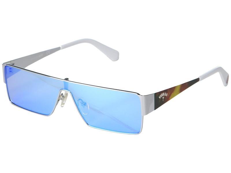 ゲス メンズ サングラス・アイウェア アクセサリー GU8206 Shiny Light Nickeltin/Blue Mirror