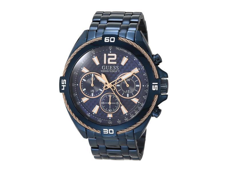 ゲス メンズ 腕時計 アクセサリー W1258G3 Blue