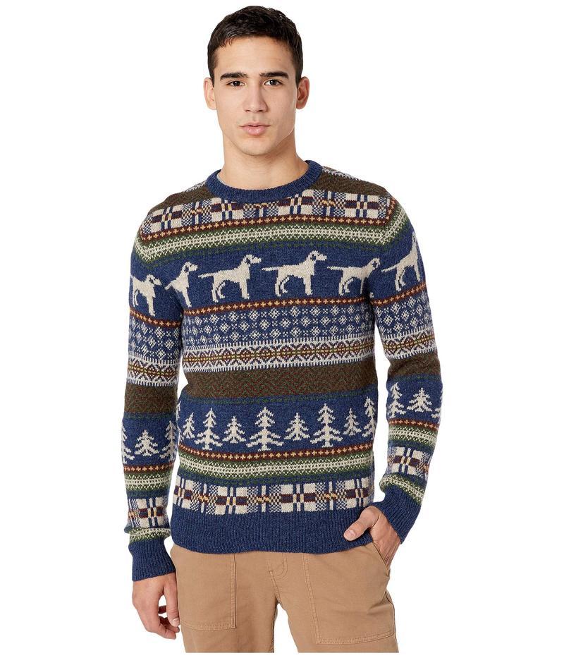 ジェイクルー メンズ ニット・セーター アウター Fair Isle Wool Crewneck Sweater in Dog Pattern Fair Isle Heather Indigo