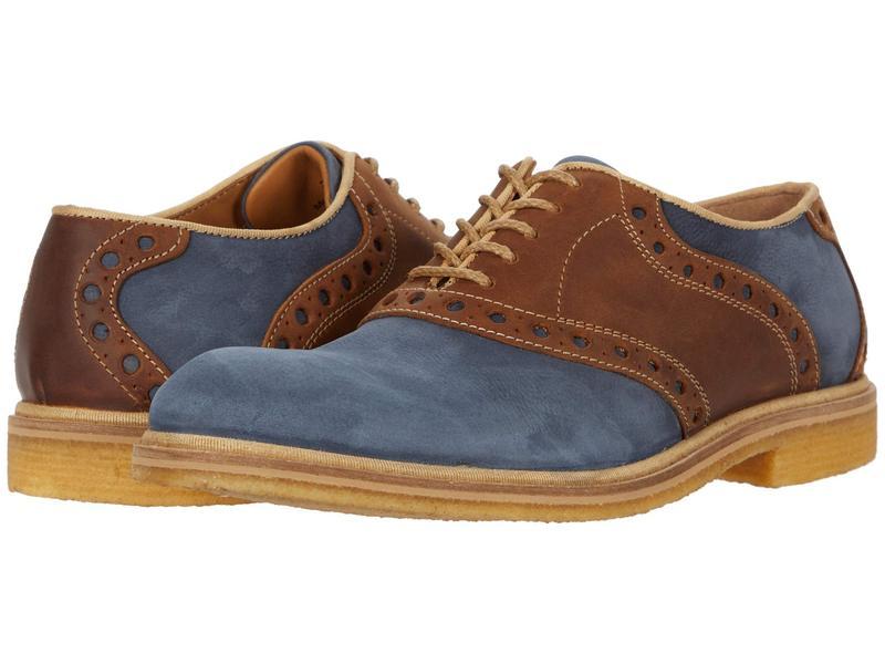 ジョンストンアンドマーフィー メンズ オックスフォード シューズ Wagner Saddle Blue