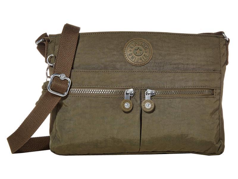 キプリング レディース ハンドバッグ バッグ New Angie Crossbody Bag Jaded Green
