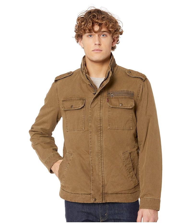 リーバイス メンズ コート アウター Two-Pocket Military Jacket with Polytwill Lining Khaki