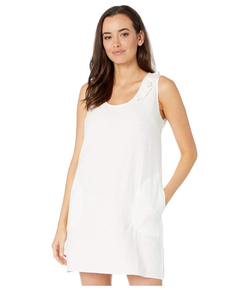 リラピー レディース ワンピース トップス Ruffle Neck Dress White