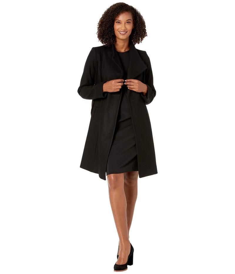 マイケルコース レディース コート アウター Asymmetric Wool Coat with Belt Coat M123890TZ Black