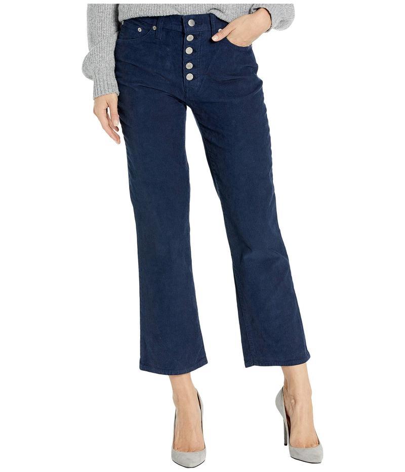 ラッキーブランド レディース デニムパンツ ボトムス High-Rise Bridgette Crop Mini Bootcut Corduroy Jeans in American Navy American Navy