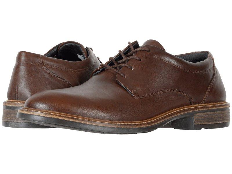 ナオト メンズ オックスフォード シューズ Wisdom Toffee Brown Leather