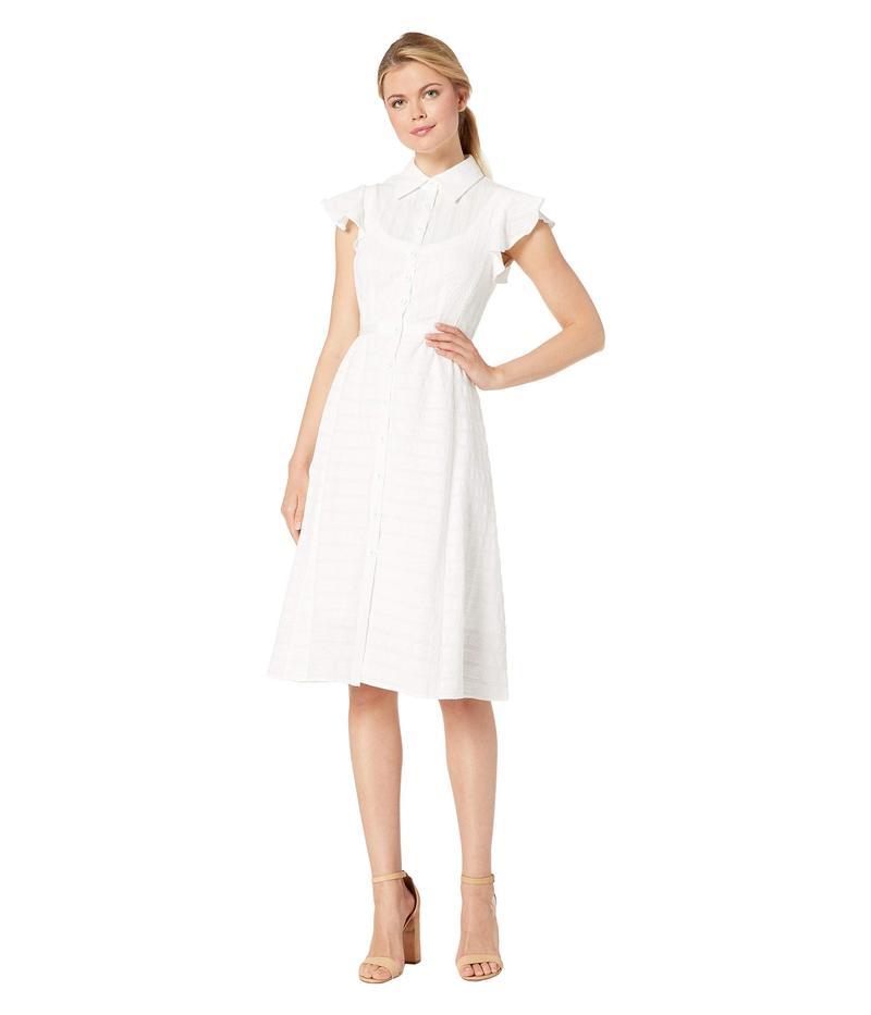 ナネットレポー レディース ワンピース トップス Solid Stripes Dress White