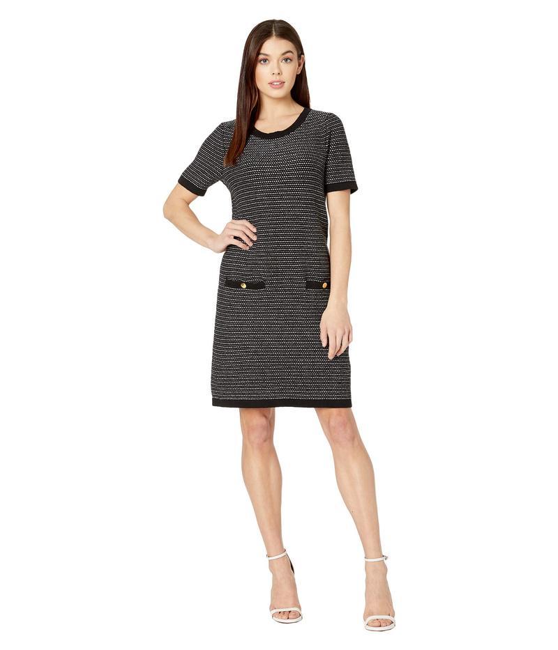 ミリー レディース ワンピース トップス Tweed Knit A-Line Dress Black Multi