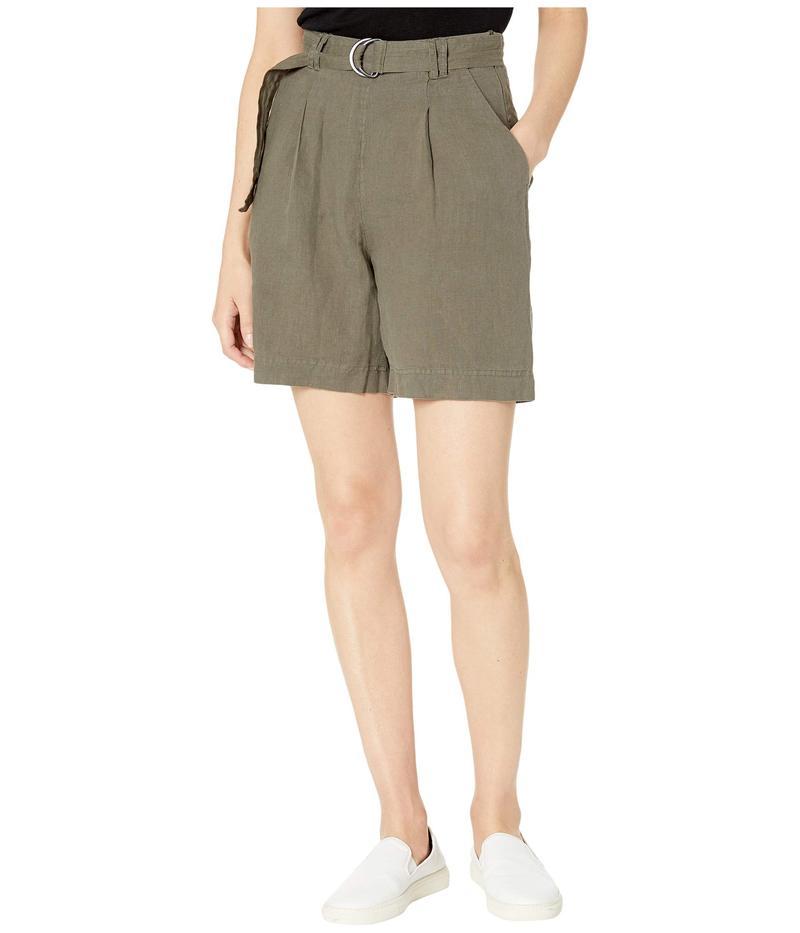 マイケルスターズ レディース ハーフパンツ・ショーツ ボトムス Sybil Woven Linen Bermuda Shorts Camo