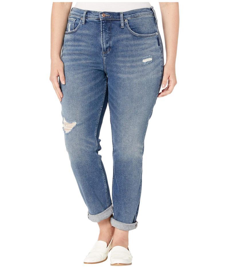 シルバー ジーンズ レディース デニムパンツ ボトムス Plus Size Not Your Boyfriends Jeans Mid-Rise Slim Leg Jeans in Indigo W27336SFV317 Indigo
