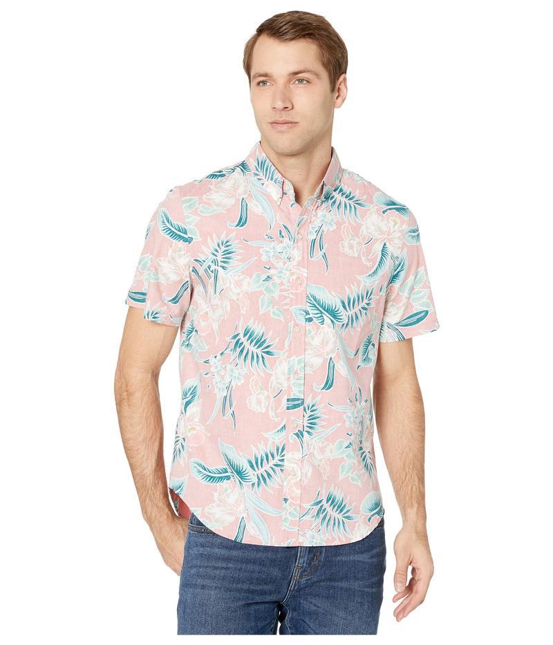 レインスプーナー メンズ シャツ トップス Orchid Bloom Tailored Fit Weekend Wash Shirt Hot Coral